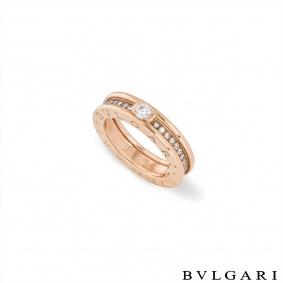 Bvlgari RoseGold Diamond B.Zero1 Ring Size 50